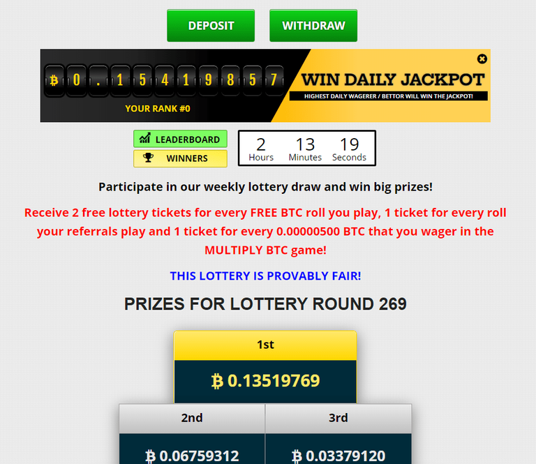 freebitco.in buy lottery get free bitcoins