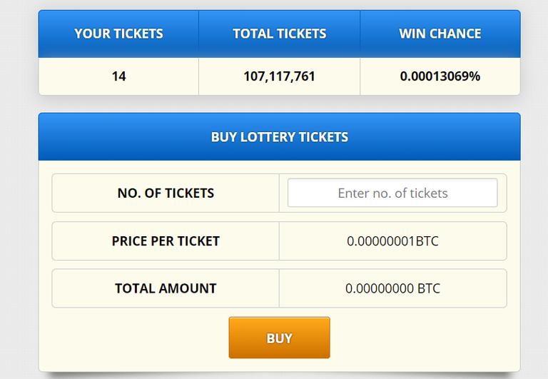 Freebitco.in tickets