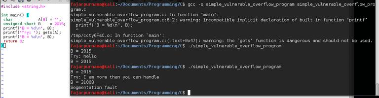 Figure 3. Simple Buffer Overflow Demonstration in C programming.png