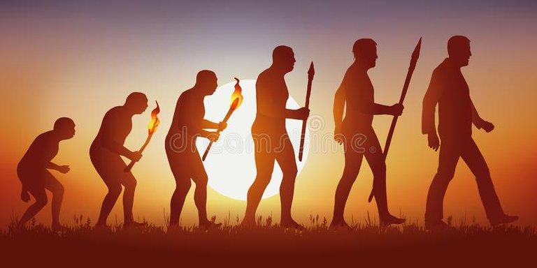 teoría-de-la-evolución-silueta-humana-darwin-concepto-darwin's-ilustrada-con-transformación-del-hombre-primitivo-al-142945183.jpg