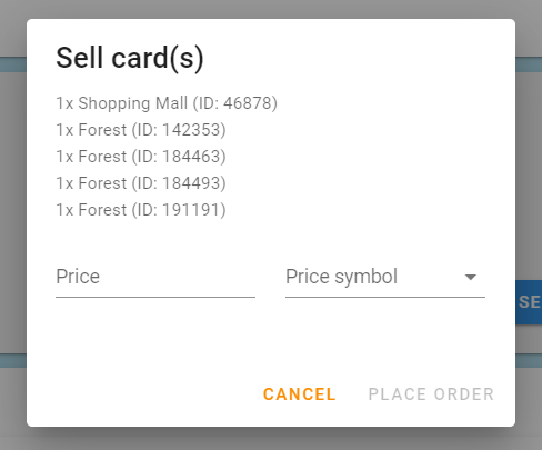 Adding cards that you do not want to sell.PNG