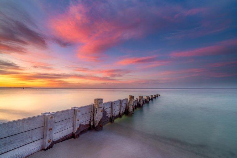 Abbey Beach at Sunset