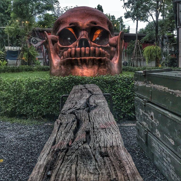 This skull sculpture was huge!
