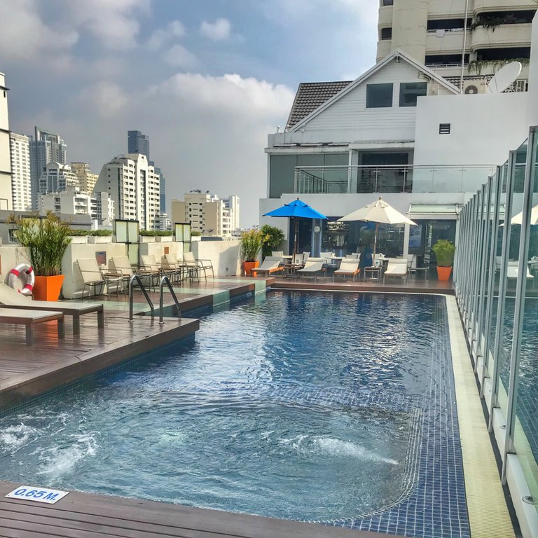 Rooftop pools are a must when visiting Bangkok