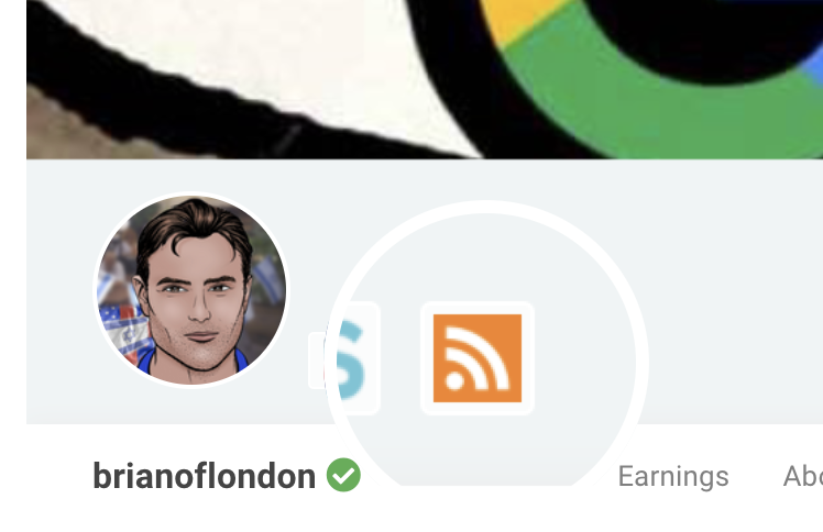 this little orange symbol leads to the RSS feed