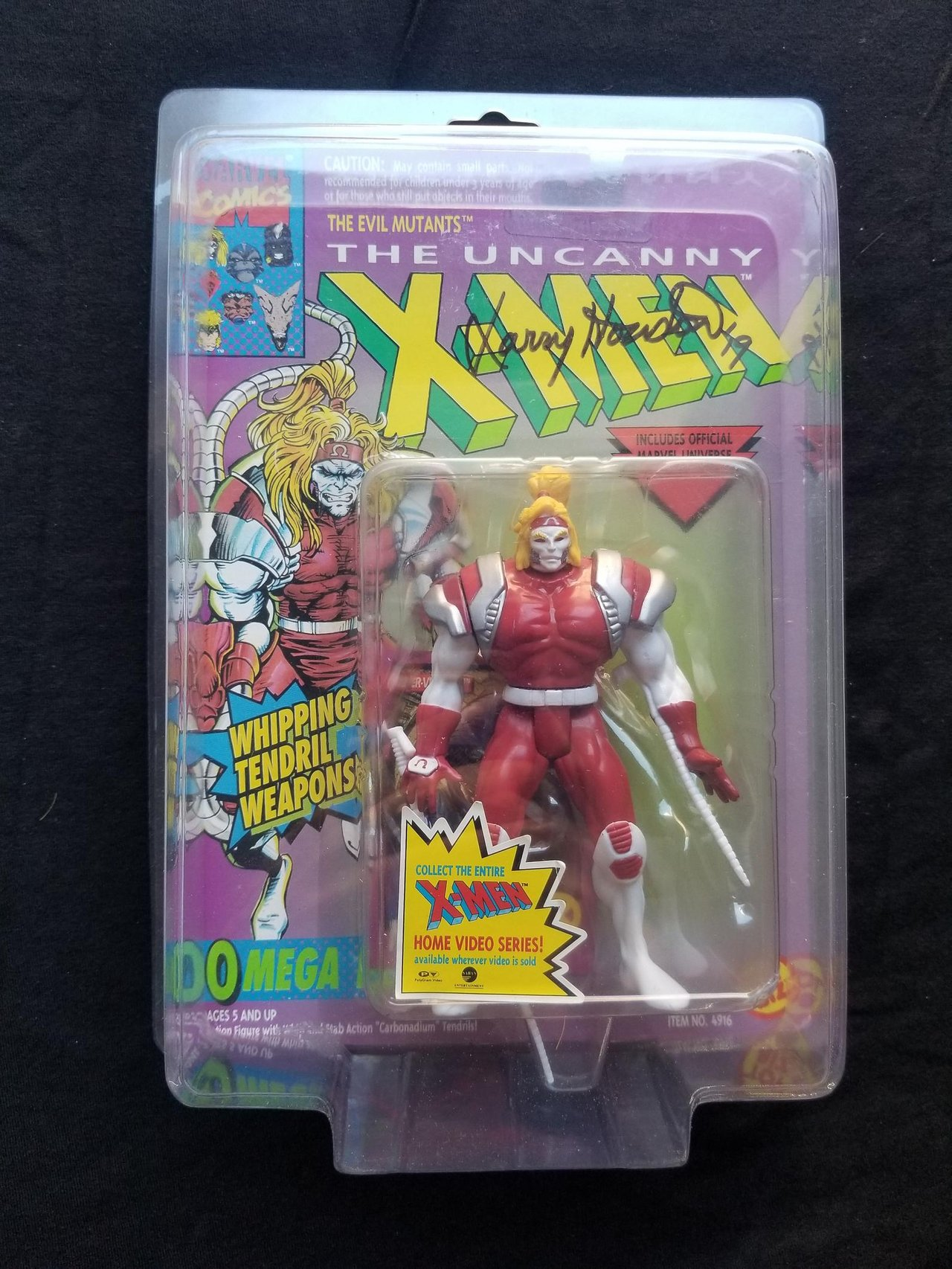 Autographed Toy Biz Omega Red Marvel Uncanny X-Men Vintage Signed Action Figure Animated Series Retro Toys Collectibles 1990s Comic Books