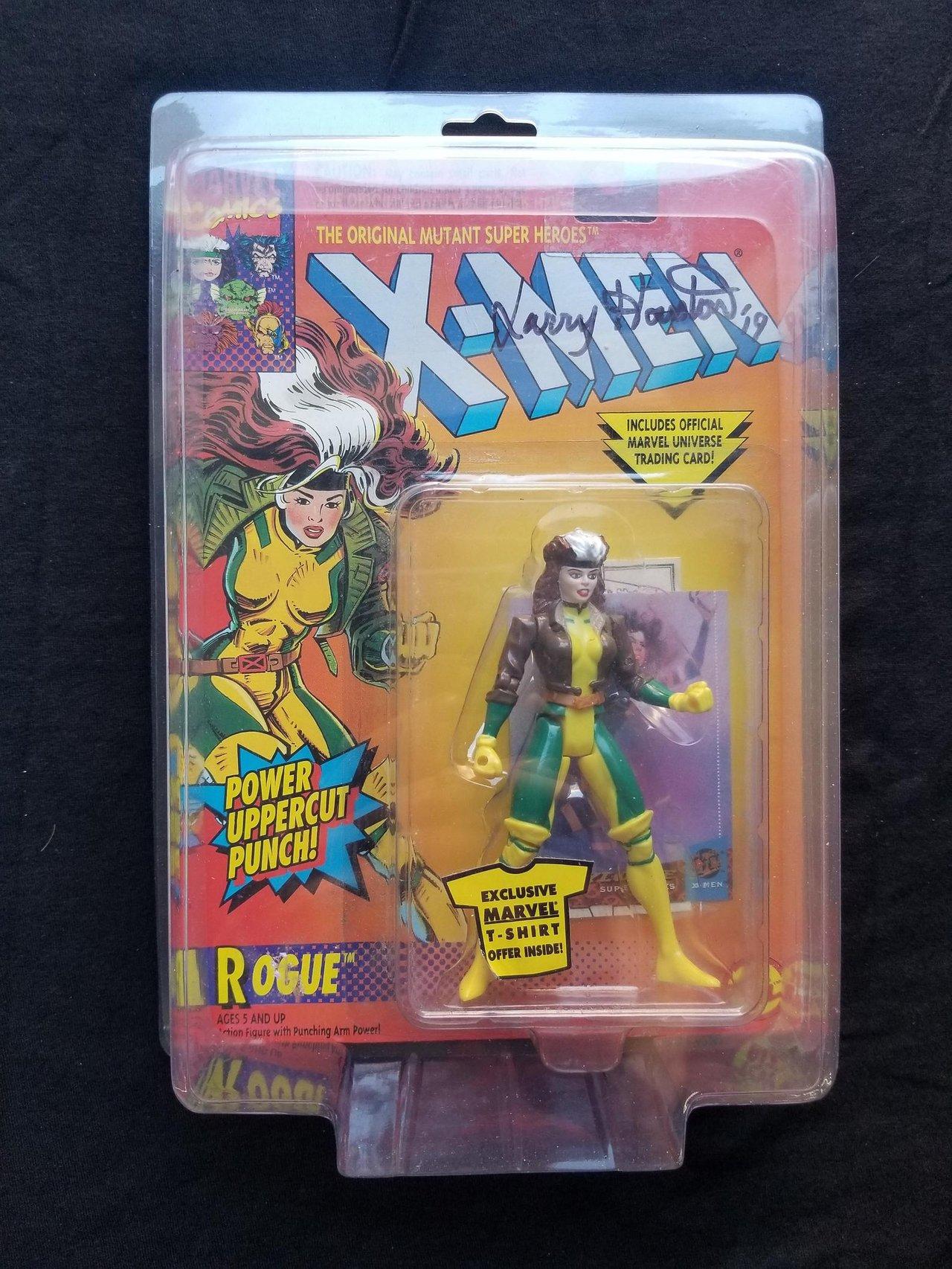 Autographed Toy Biz Rogue Marvel Uncanny X-Men Vintage Signed Action Figure Animated Series Retro Toys Collectibles 1990s Comic Books