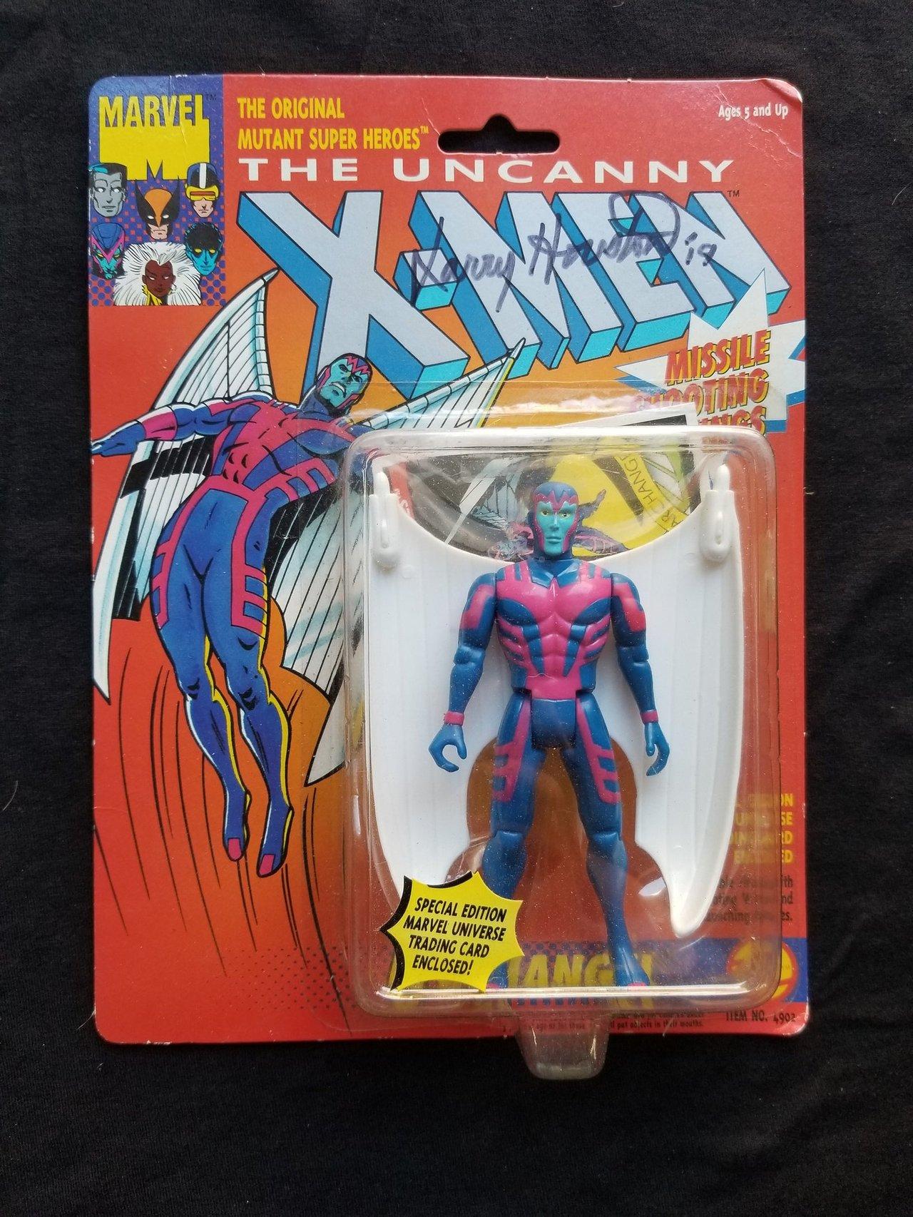 Autographed Toy Biz Archangel Marvel Uncanny X-Men Vintage Signed Action Figure Animated Series Retro Toys Collectibles 1990s