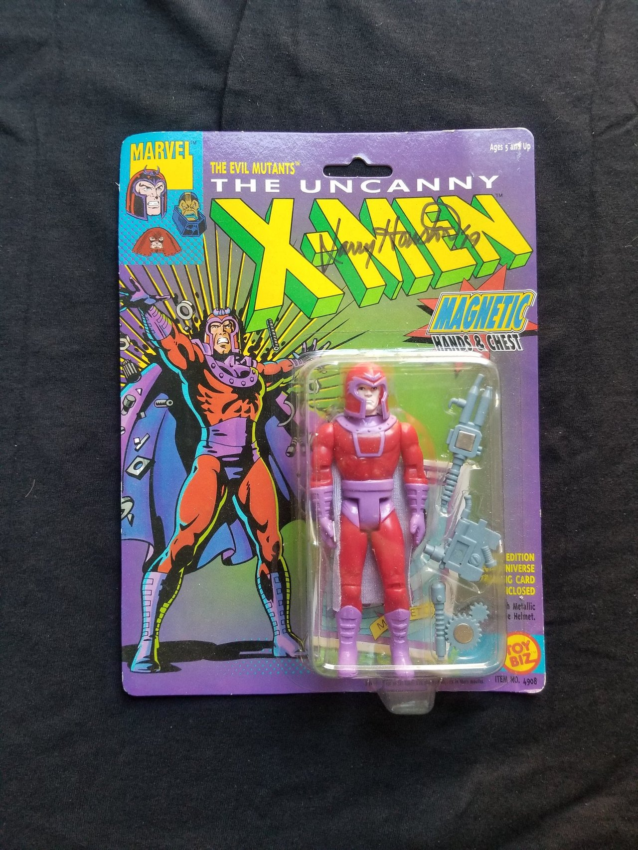 Autographed Toy Biz Magneto Marvel Uncanny X-Men Vintage Signed Action Figure Animated Series