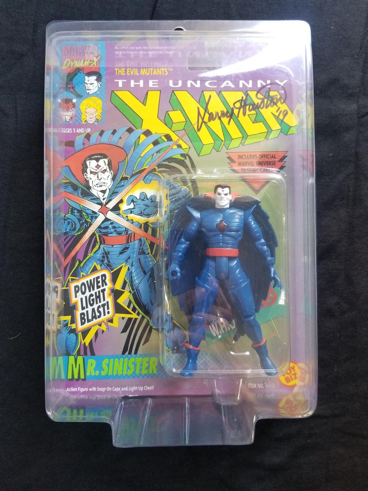 Autographed Toy Biz Mr Sinister Marvel Uncanny X-Men Vintage Signed Action Figure Animated Series Retro Toys Collectibles 1990s Comic Books
