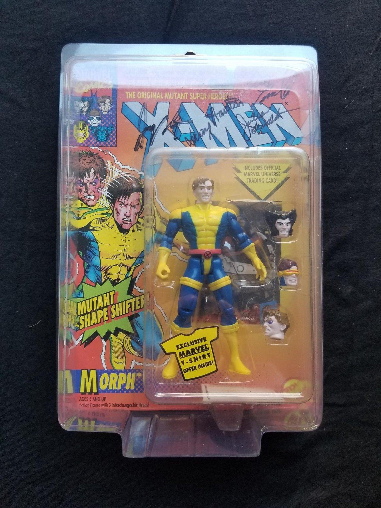 Autographed Toy Biz Morph Marvel Uncanny X-Men Vintage Signed Action Figure Animated Series New Retro Toys Collectibles 1990s Comic Books