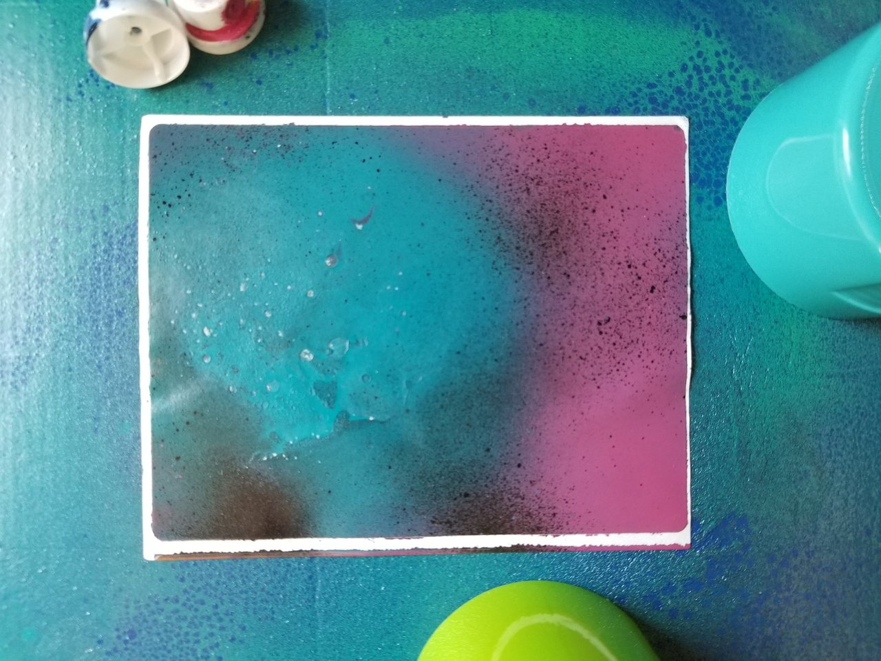 New Photo Abstract Painting #3 Sticker Spray paint on sticker paper. 2021