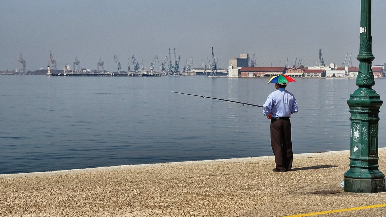 An angler waiting for the fish