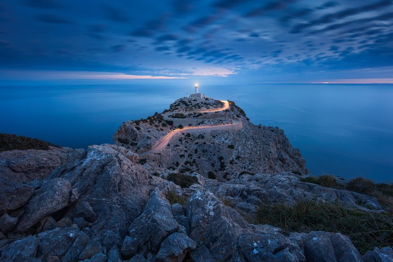 Long time exposure of Cap Formentor Lighthouse