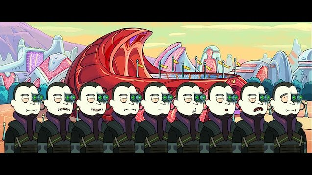Borg unität rick and morty