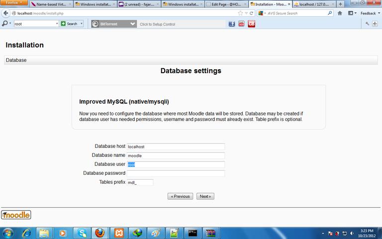 Figure 8. moodle installation database setting.png