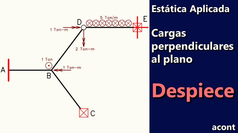 Despiece de estructuras con cargas perpendiculares al plano. Estática Aplicada.png