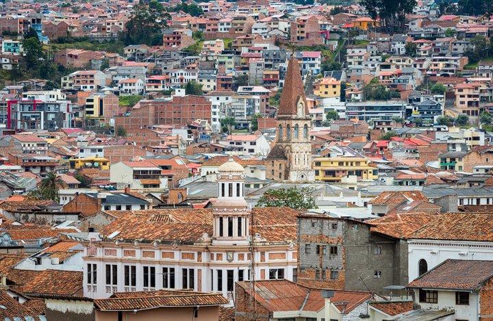 Rooftop view of Cuenca