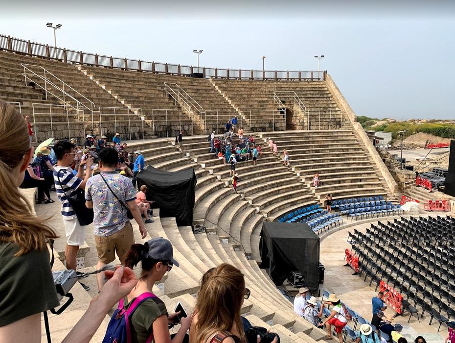 Ruins of Roman amphitheater in Caesarea