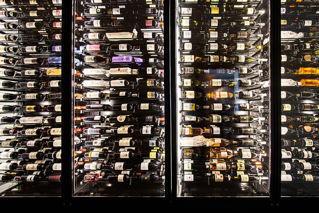 The wine list at the Galerija Okusov restaurant is extensive.