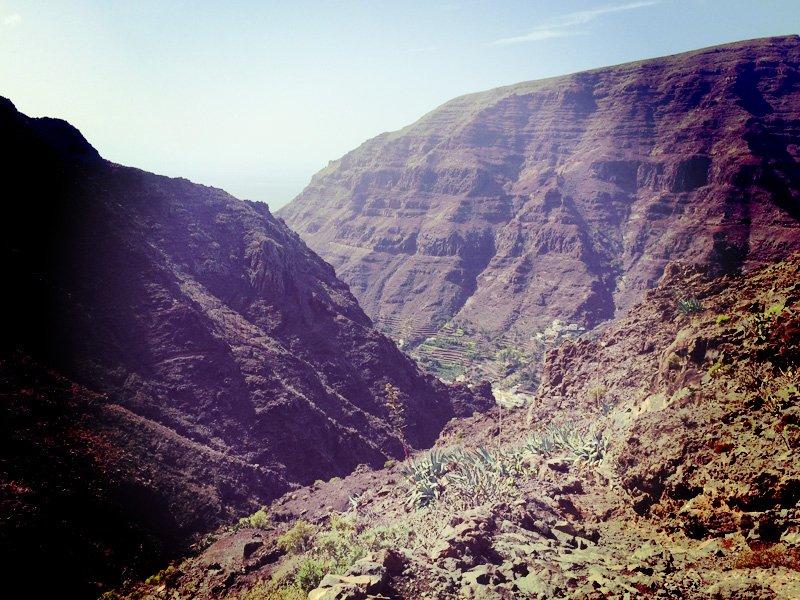 Canyon going down to my bay. Valle Gran Rey, La Gomera