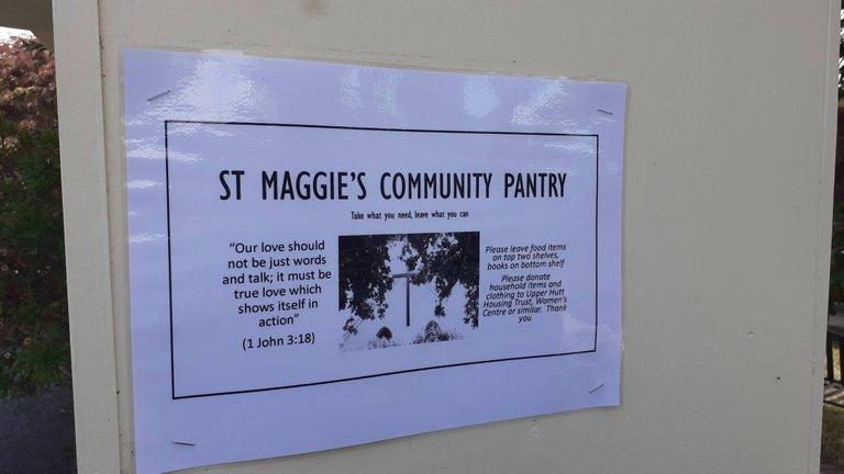 Outside St Margaret Church, Silverstream.