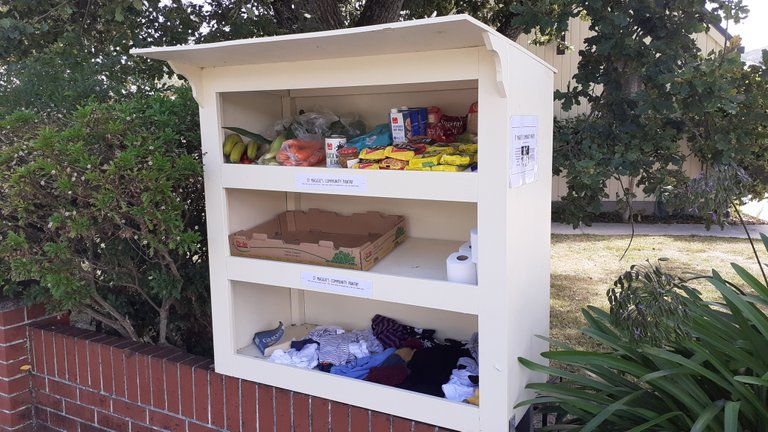 This outdoor pantry is the smallest I have seen so far.