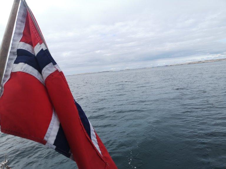 norwegian boat flag in Bohuslän