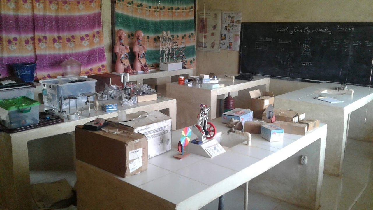 Our Science Lab in set-up mode - Maintained by Varmah