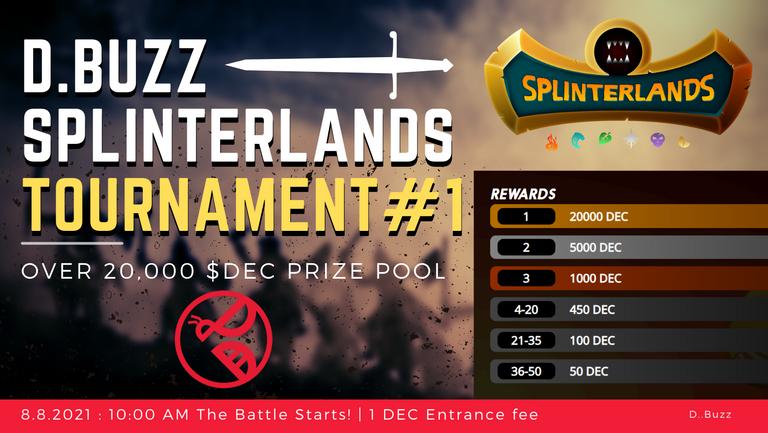 D.Buzz Splinterlands Tournament #1