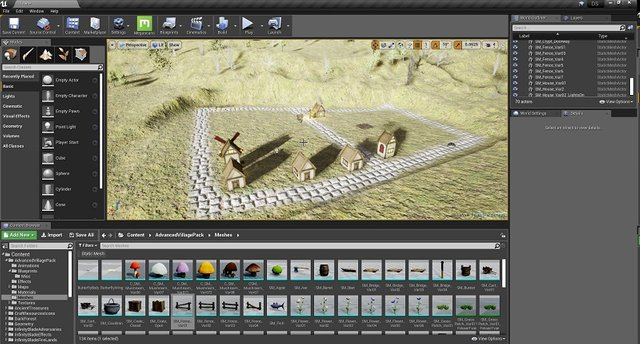 attempt one at making a village in Unreal Engine 4.jpg