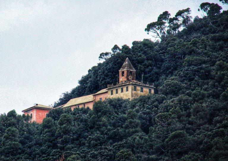 The Sanctuary of Nostra Signora delle Grazie seen from Chiavari