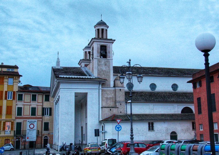 Church on the Sestri Levante seafront...