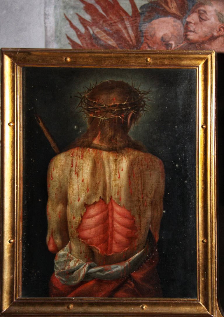 Christ flagellated - rear view