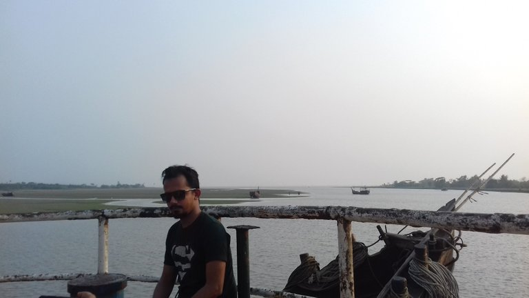 On the boat, for photography..