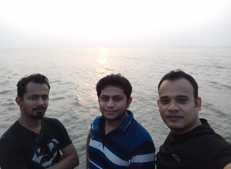 With the touch of water, me at the left, with my colleagues..