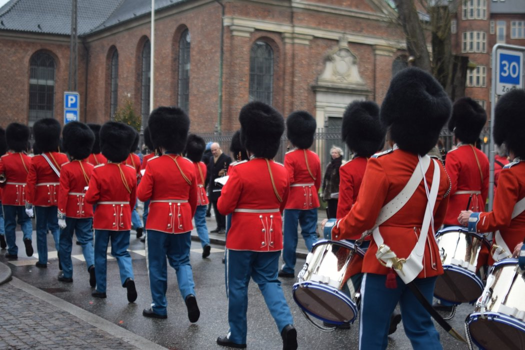 Changing of the guards in Copenhagen.