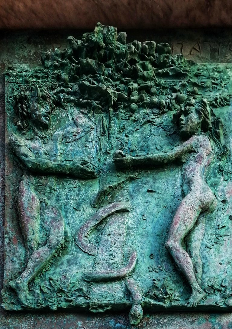 Bas-relief Adam and Eve...