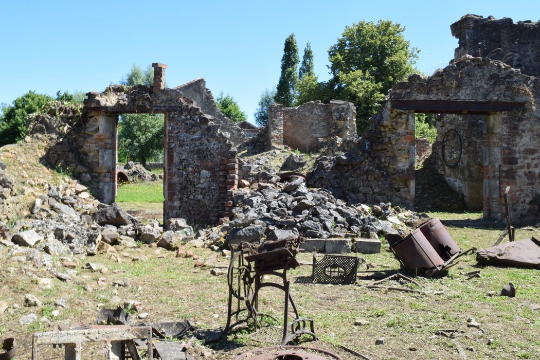 Building ruins in Oradour-sur-Glane