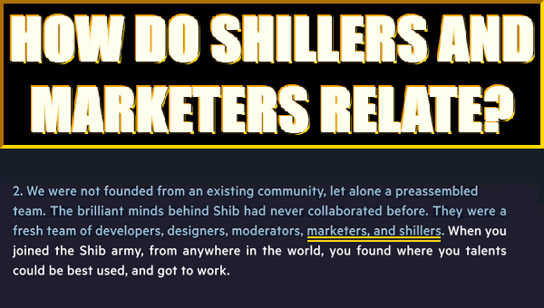 Text concerning marketers and shillers