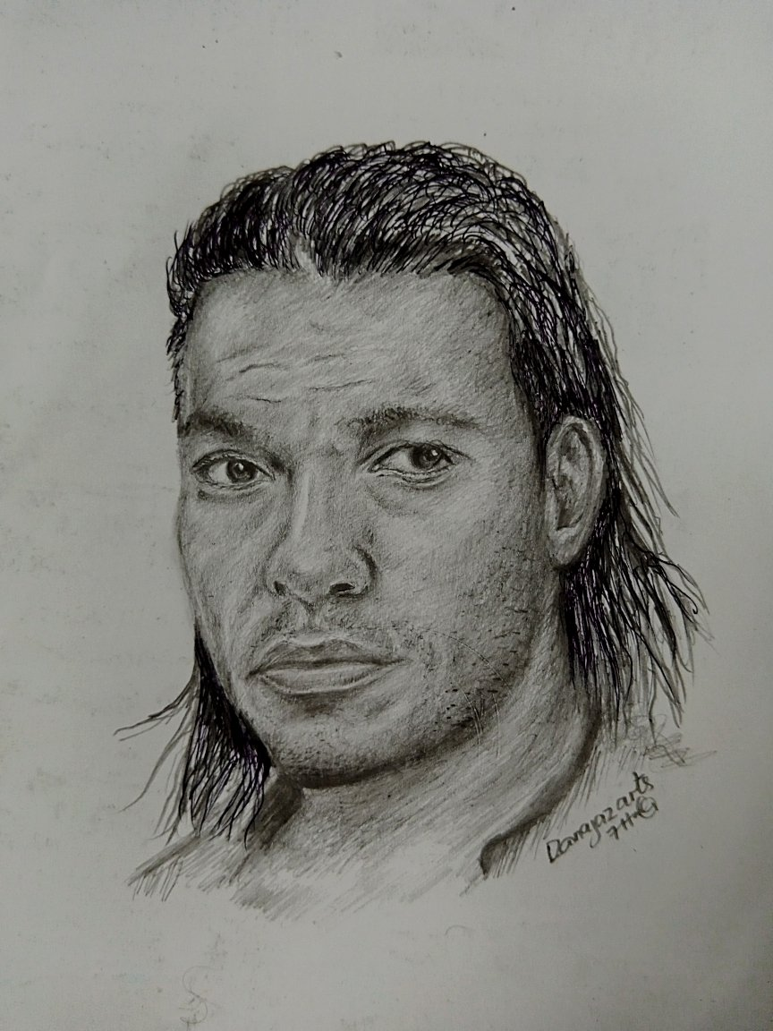 "My pencil sketch of Jean-Claude Van Damme as Chance Boudreaux in ""Hard target""."