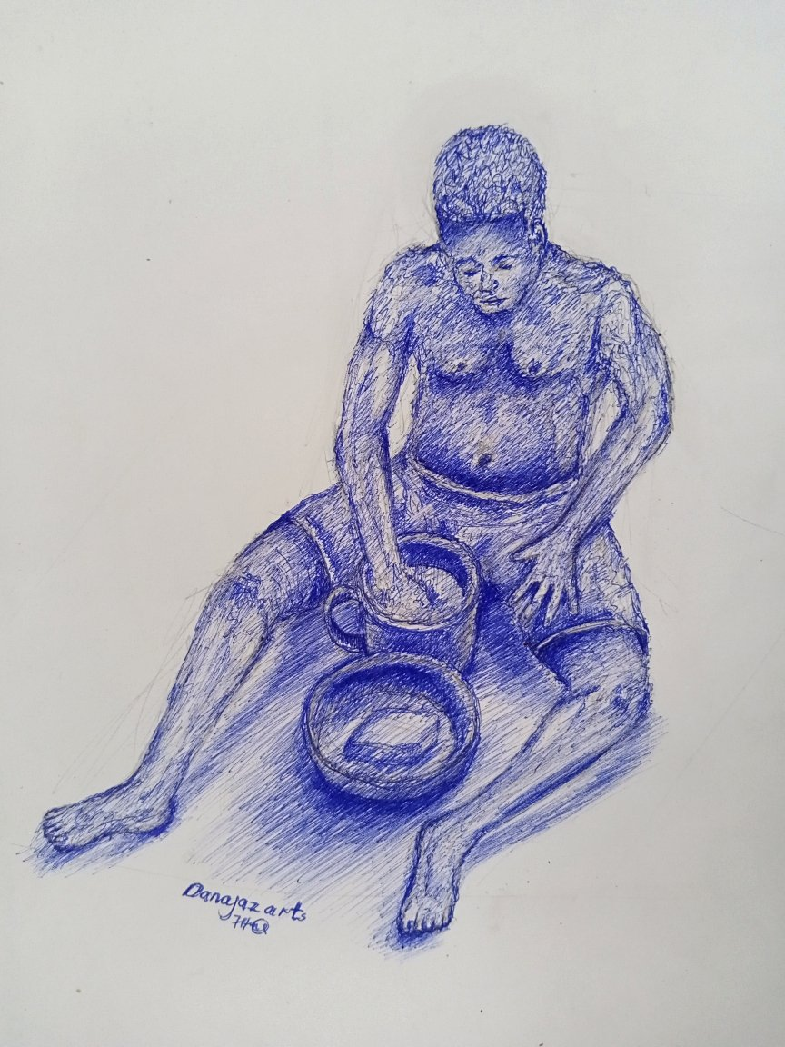 My figure study today of a man eating.