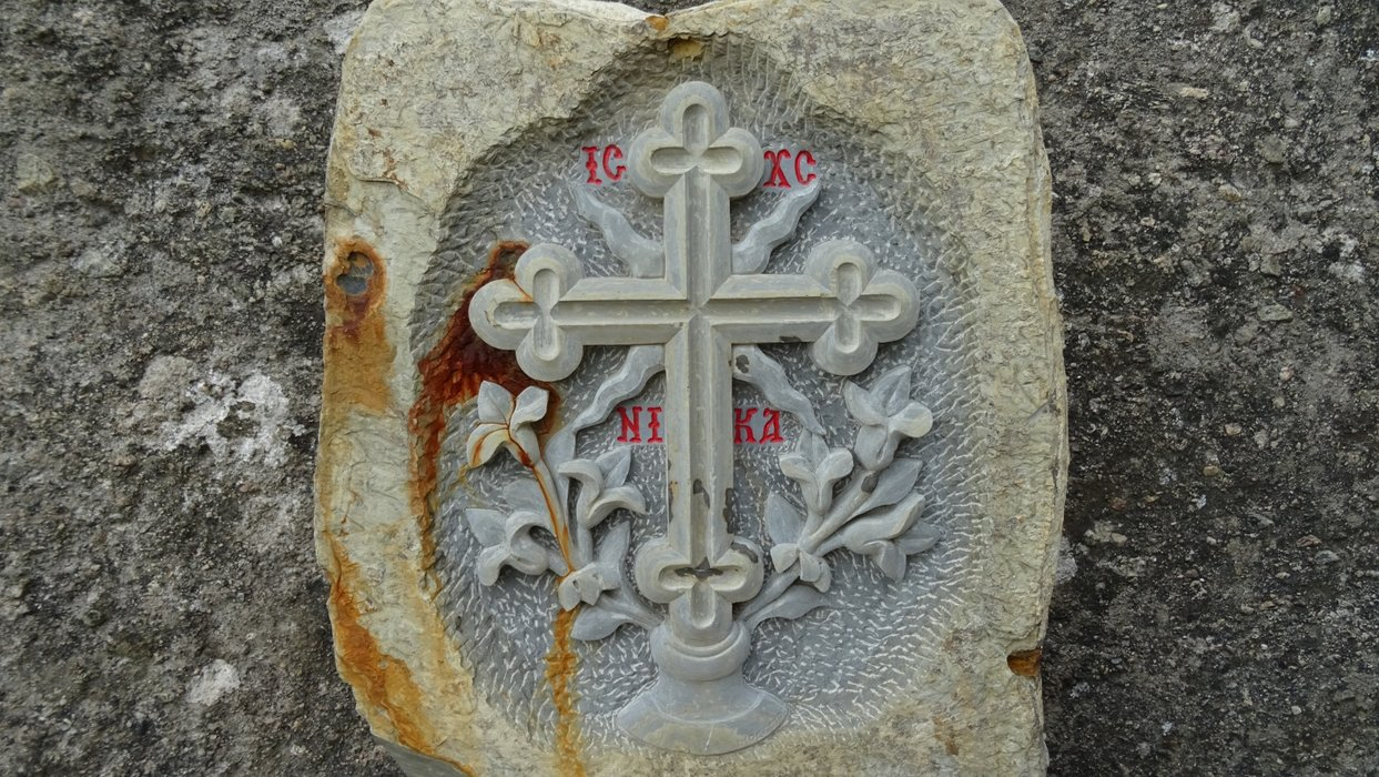 and a cross