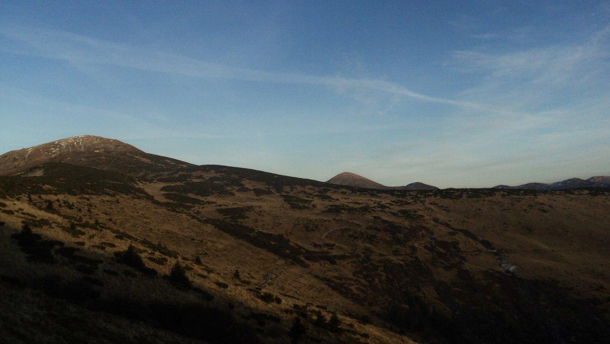 Landscape during the descent
