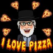Sarge Bitmoji I love pizza