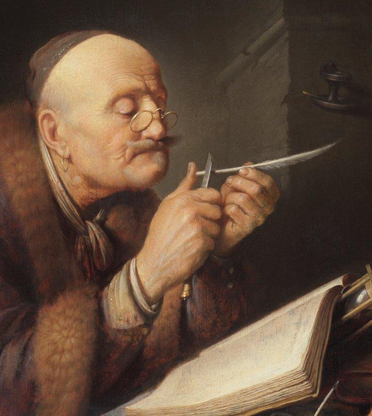 Gerrit_Dou__Scholar_sharpening_a_quill_pen.jpg