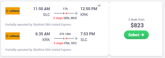 Cheap flights from Salt Lake City to Krakow at Skyscanner.png