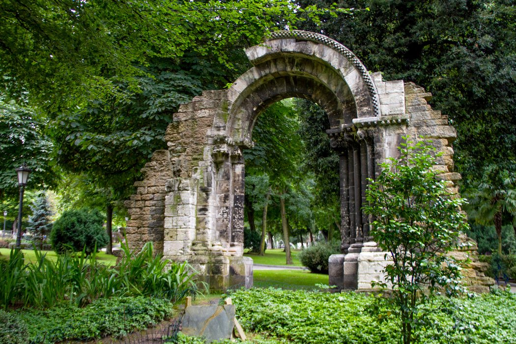 Park Campo de San Francisco in Oviedo, Spain