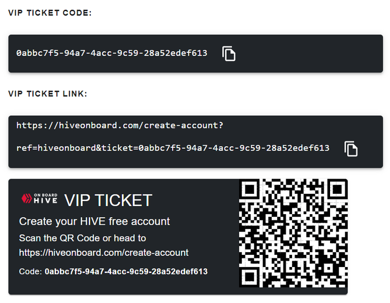 Claimed VIP Tickets