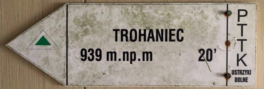 Oryginalna tabliczka szlakowa - Trohaniec